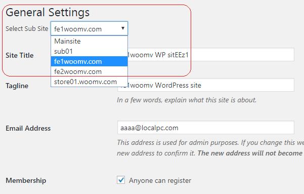 woocommerce multi site multi vendor substore settings