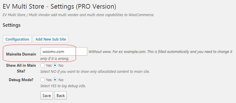 wordPress woocommerce multi site plugin configuration.