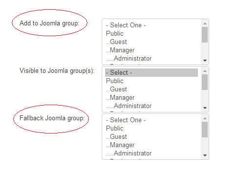 joomla groups selection in membership plan