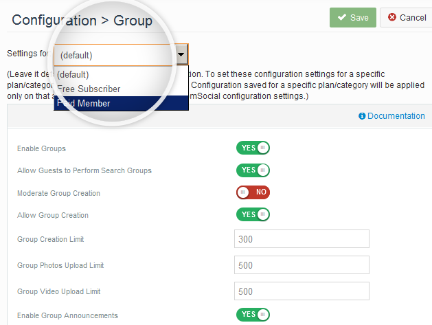 Enhanced control over Group Settings for free and paid members