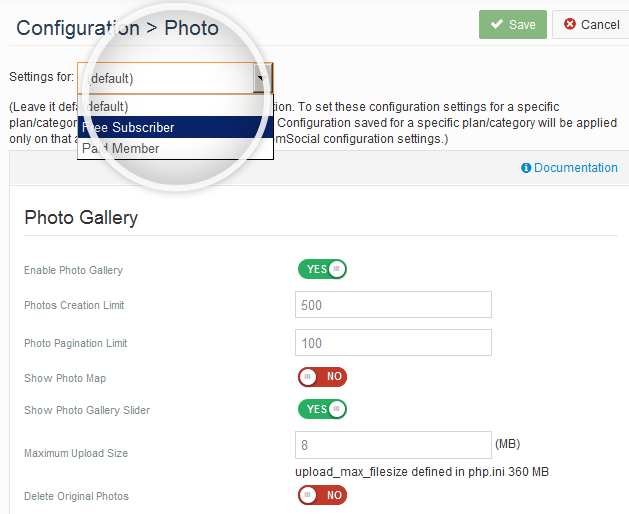 Simply allow more Photos to Paid Members