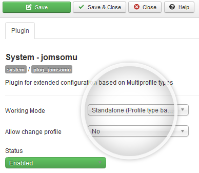 Set Working Mode in jomsomu system plugin