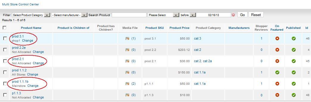 Multi Vendor Product Allocation Link